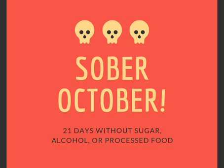 Sober October 2019