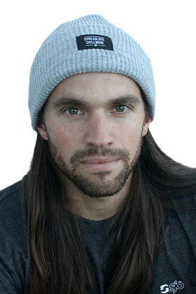 Light Grey Fold Beanie