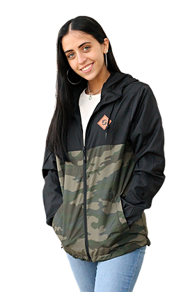 Black&Camo Zip Windbreaker