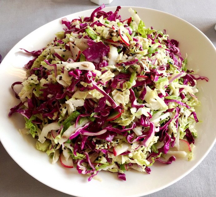 Purple and Nappa Cabbage Slaw