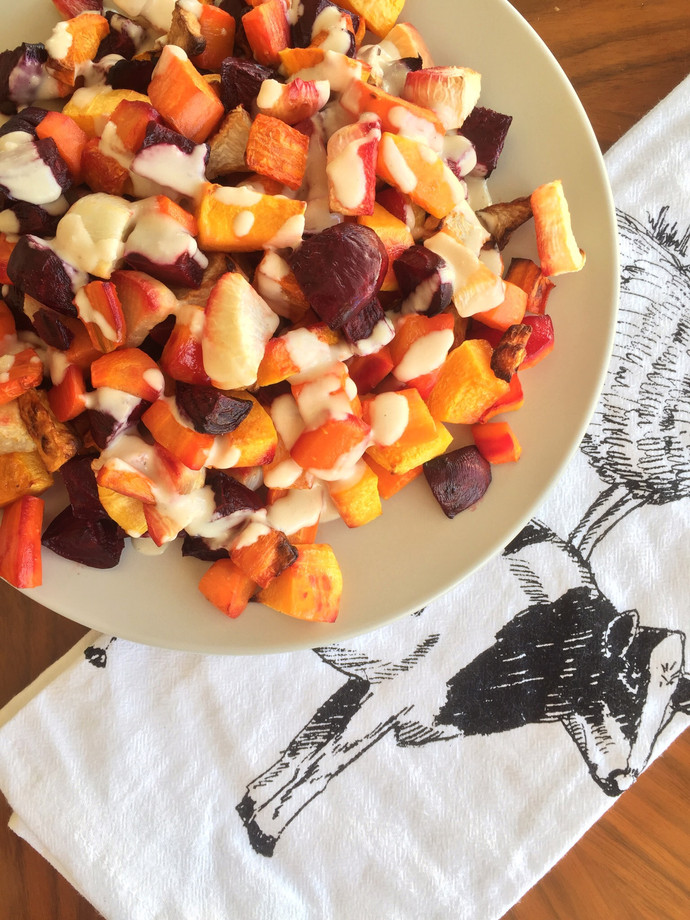 Roasted Root Vegetables with Tahini