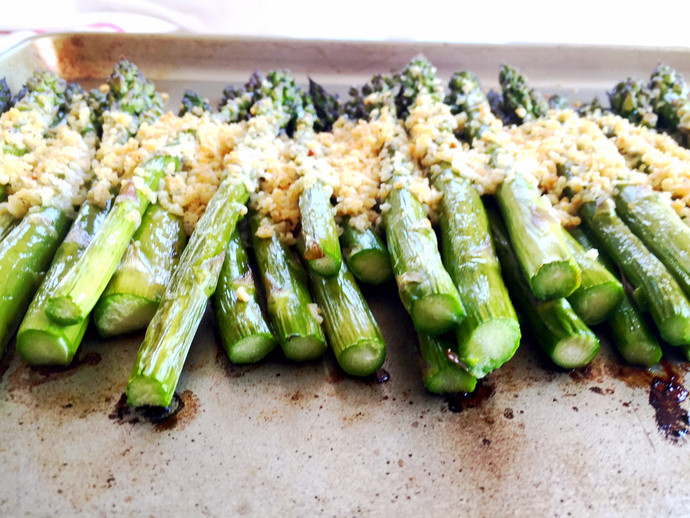Roasted Asparagus with Panko and Parmesan
