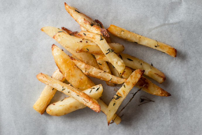 Yukon and Sweet Potato Herbed Fries