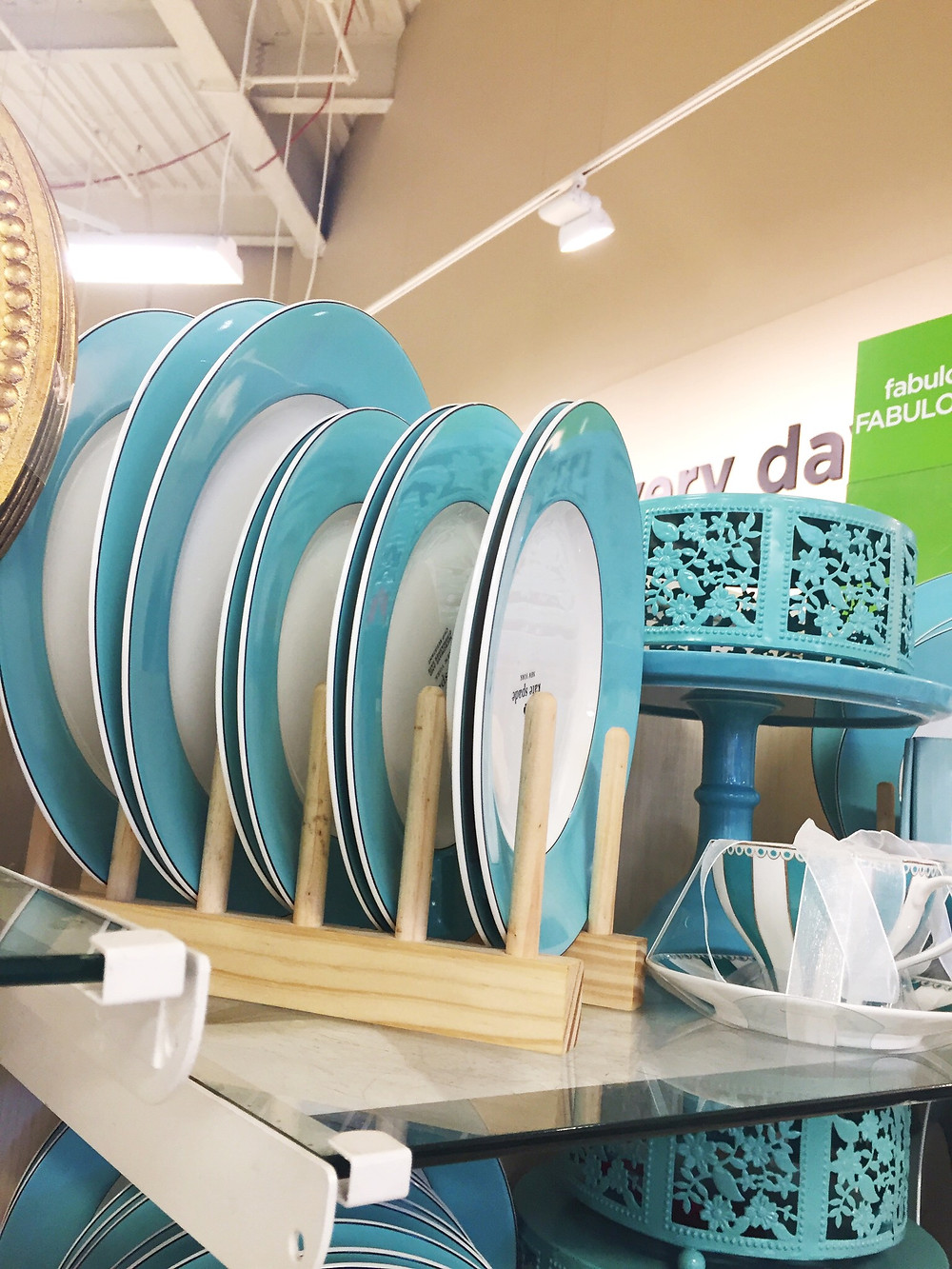 Kate Spade tiffany blue dishes