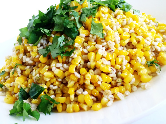Roasted Corn with Coconut Barley
