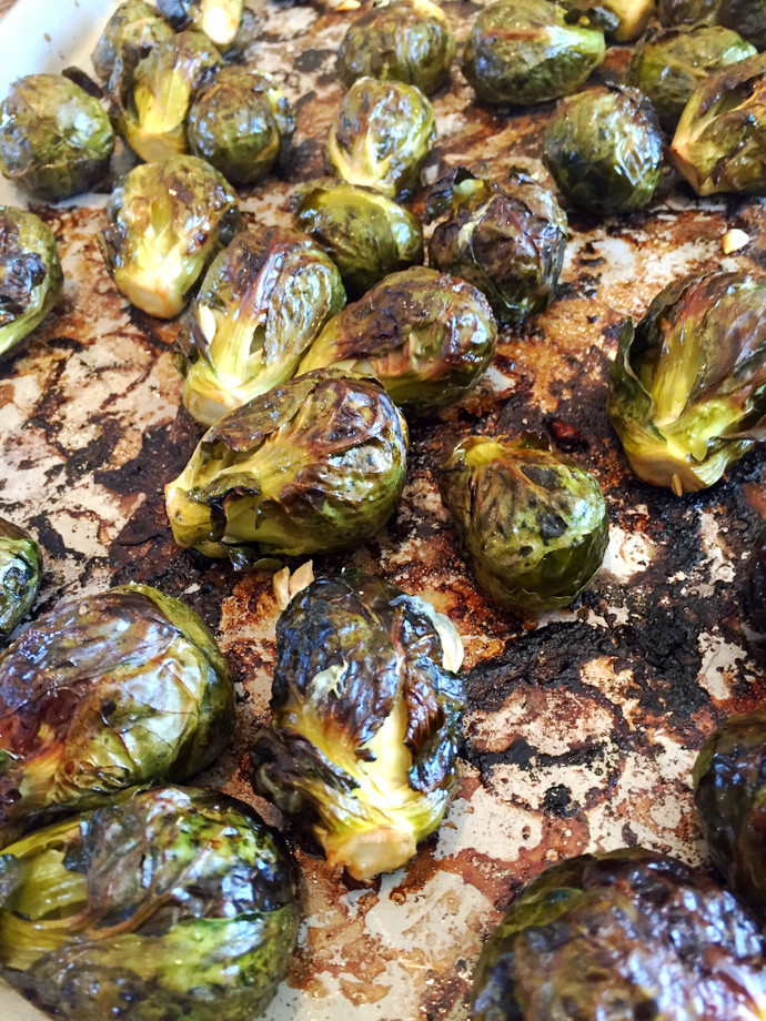 Charred Brussel Sprouts with Lemon