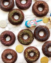 Brownie Baked Donuts with Chocolate Glaze!