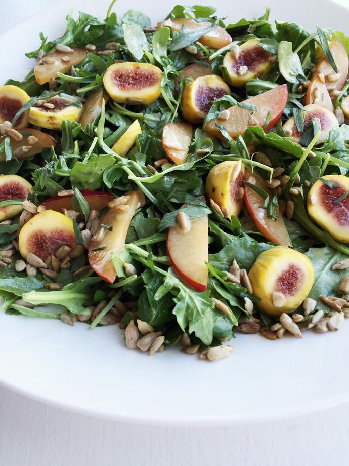Autumn Arugula Fruit Salad