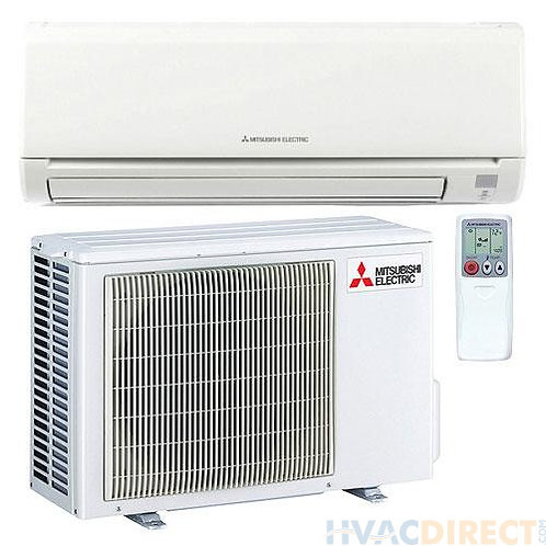 mitsubishi 18000 BTu mini split heating & cooling system