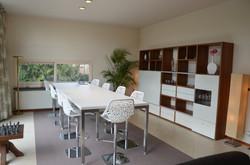 vergader en eetkamer