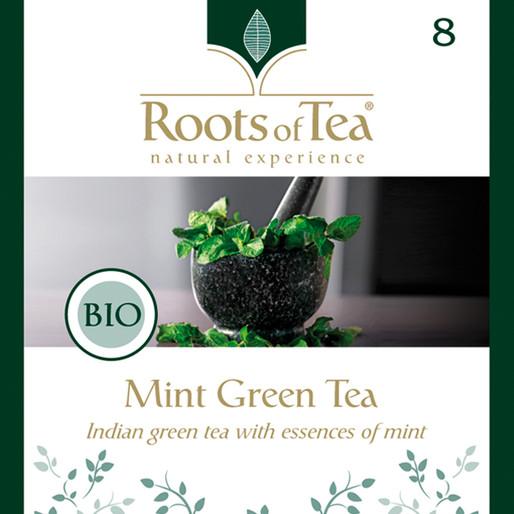 Roots of Tea - 08-Mint Green Tea BIO 20x