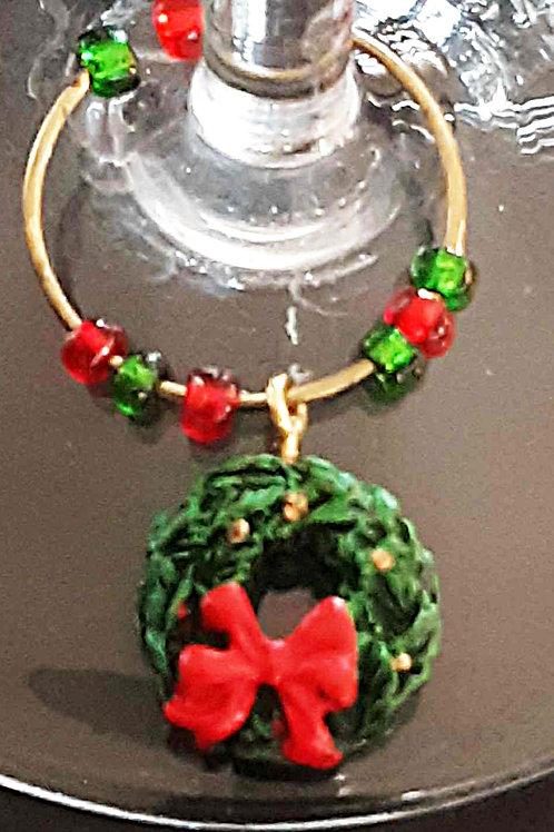 Holiday Wine Glass Charm Set