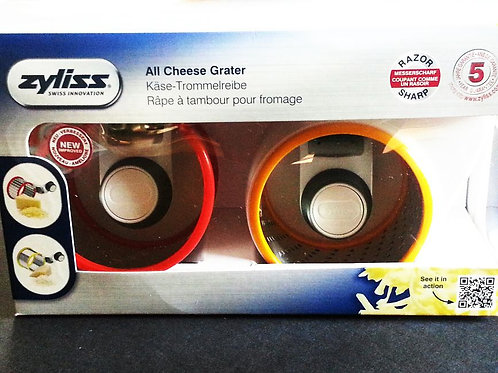 Zyliss All Cheese Grater, Fine and Coarse Drum Set, White