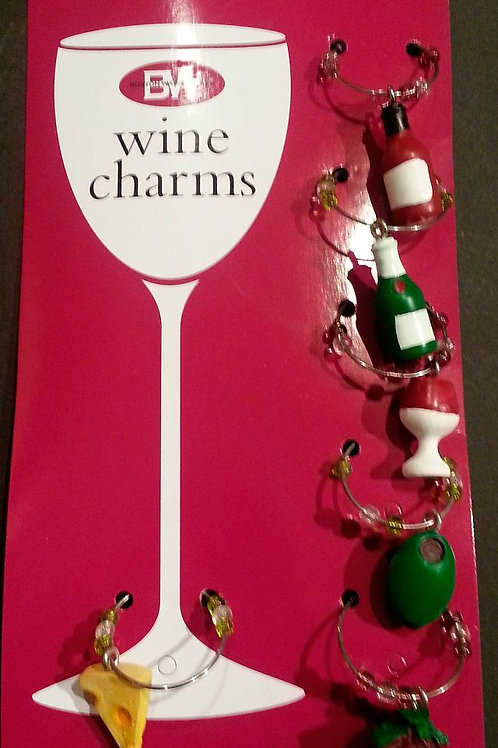 Wine & Cheese Wine Charm Set