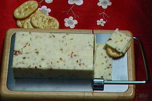 Metalla Metal-Wood Stainless Steel Inlay Cheese Slicer