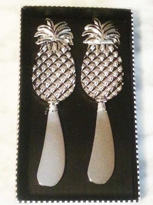 Pineapple Zinc Spreaders--Set of 2