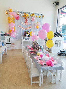 Babble space kidscafe birthday decoration