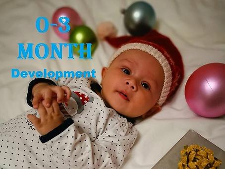 พัฒนาการของลูกน้อย 0-3 เดือน