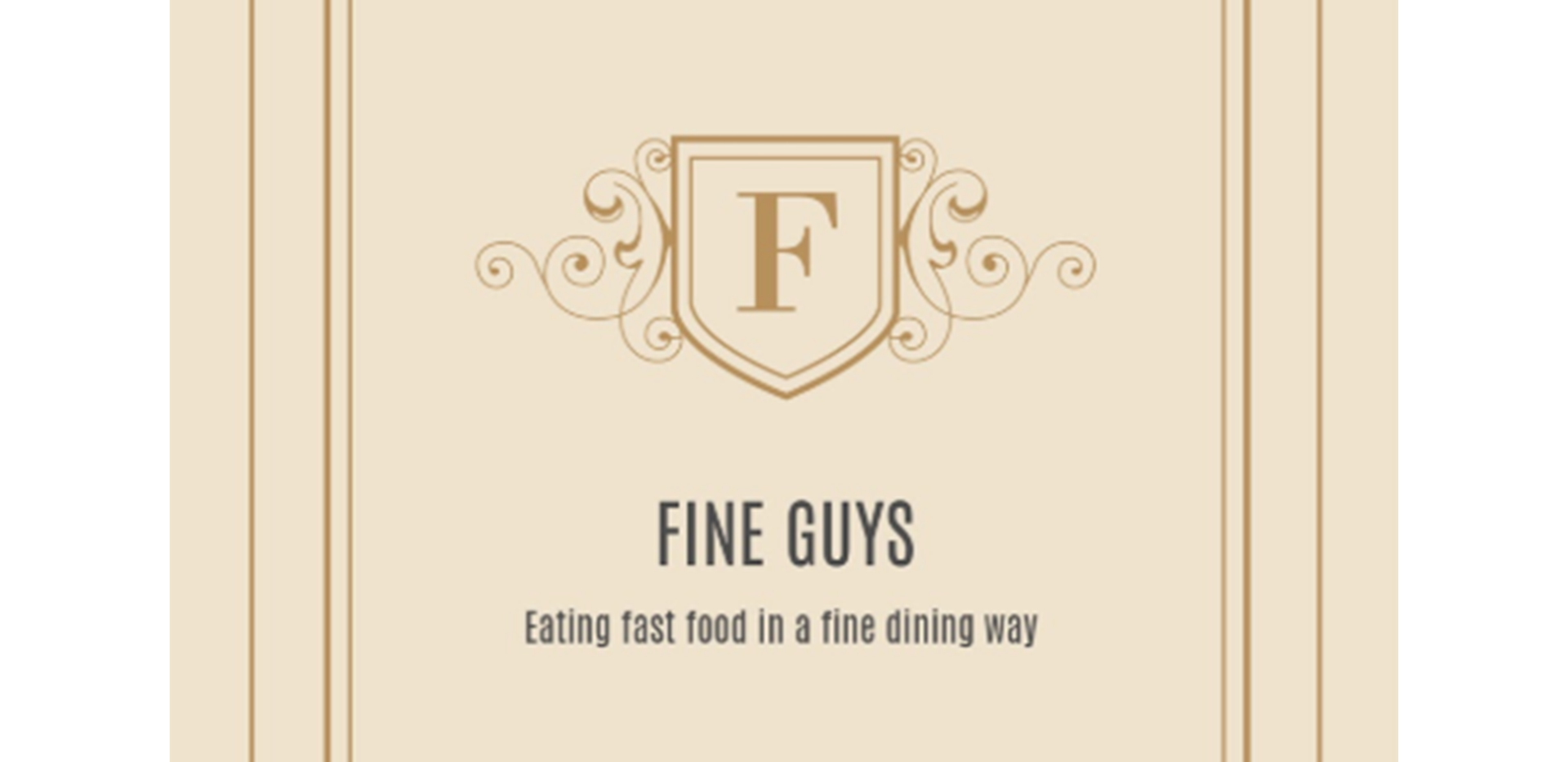 Fine Guys Menu