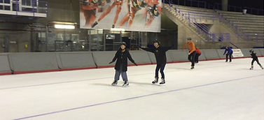 Ice skatng at Olympic Oval