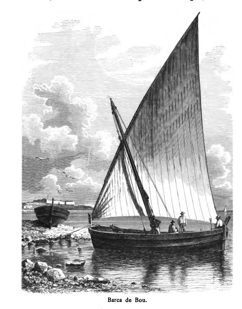 """""""Barca del bou"""" [wing net boat]"""