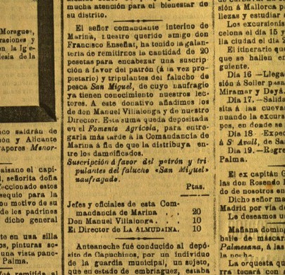 "Retall de ""La Almudaina""."