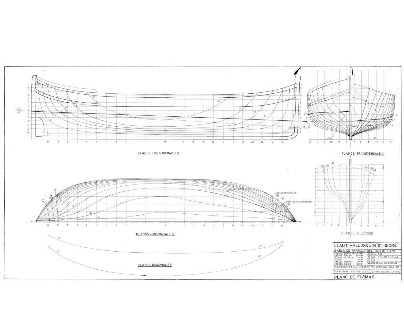 """Shape plans for the """"Sant Isidre"""" designed by Vicente García Delgado   Courtesy of Vicente García Delgado"""