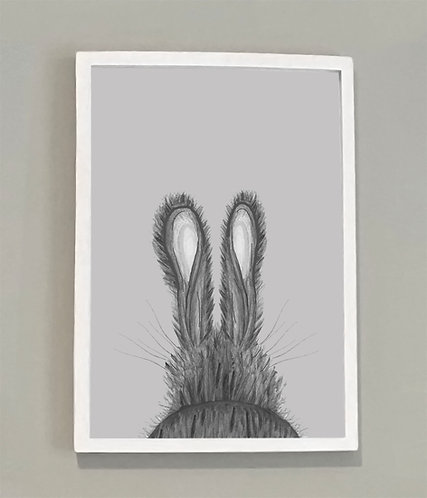 Hare Print A4