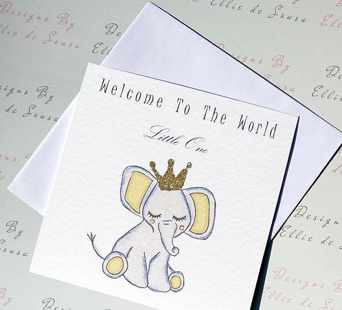 Little One Baby Elephant Card