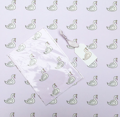 Sheet Of Swan Wrapping Paper