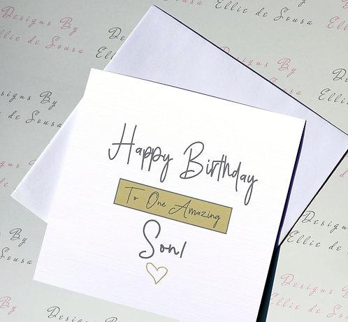 Happy Birthday To One Amazing Son!