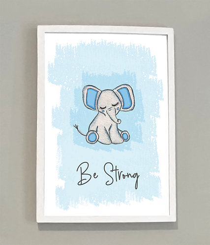 A4 Be Strong Print Pink or Blue
