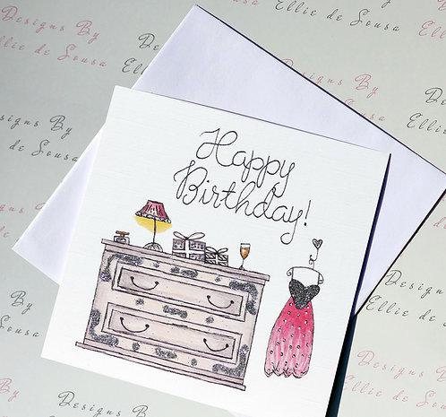 Birthday Glam Card