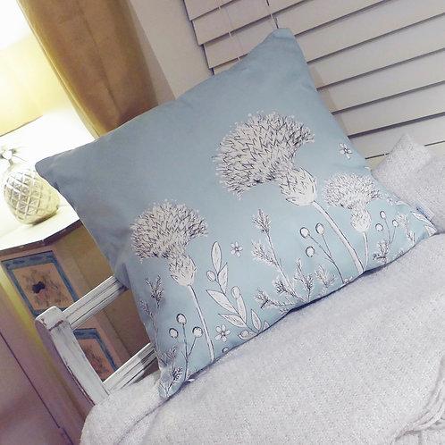 Monochrome Thistle Cushion