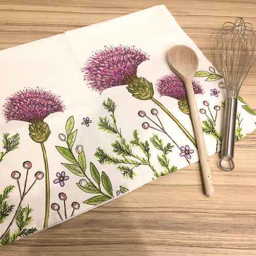 Colourful Thistle Tea Towel