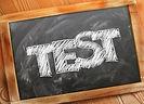 Chalkboard with 'Test' written on it