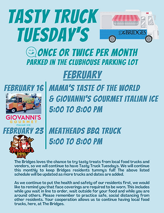 Tasty Truck Tuesday Feb 2021
