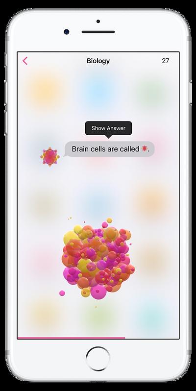 Study game app screenshot on iPhone