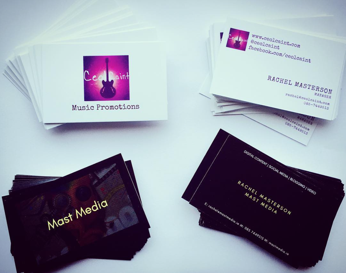 Ceoil Caint & Mast Media Business Cards