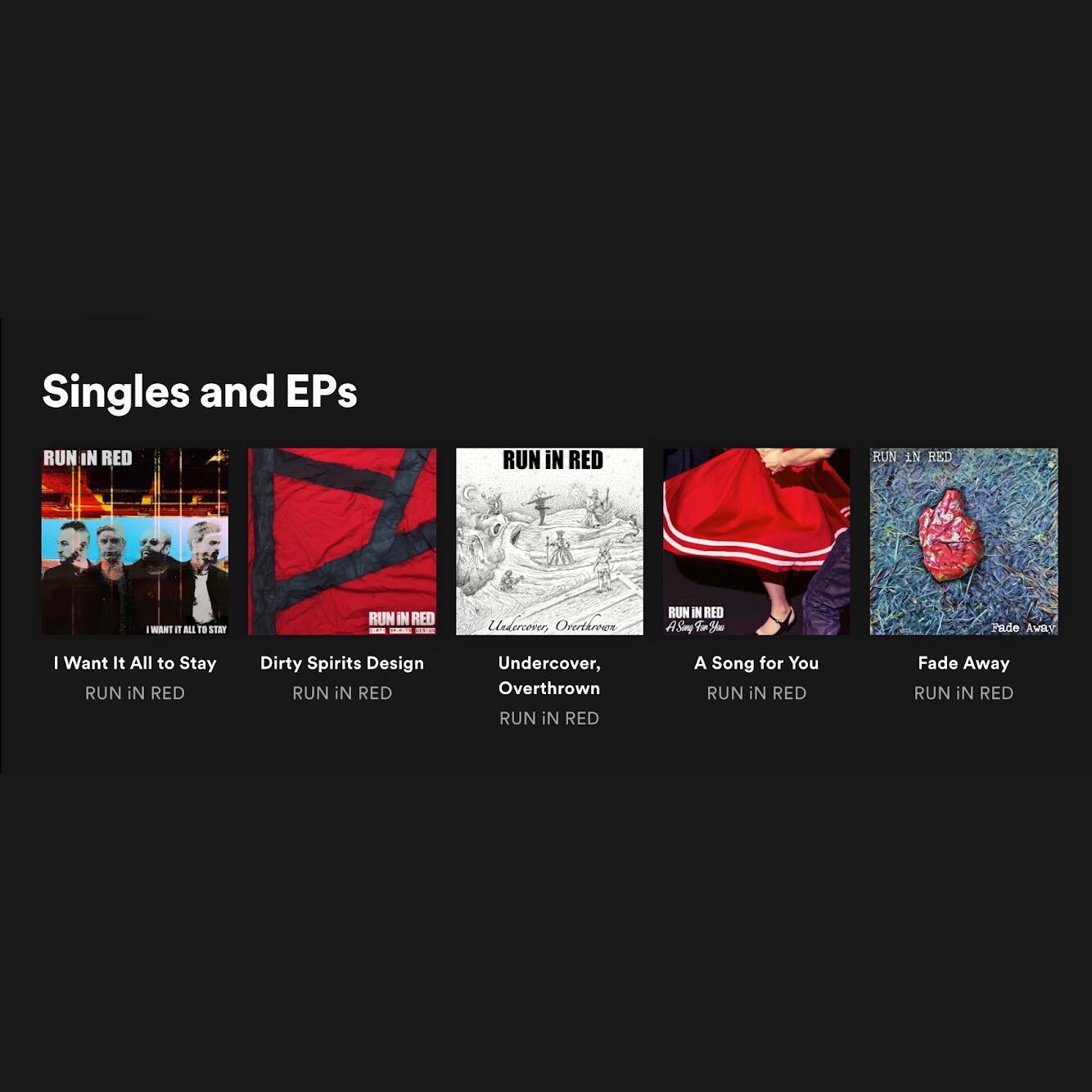 RUN iN RED Spotify