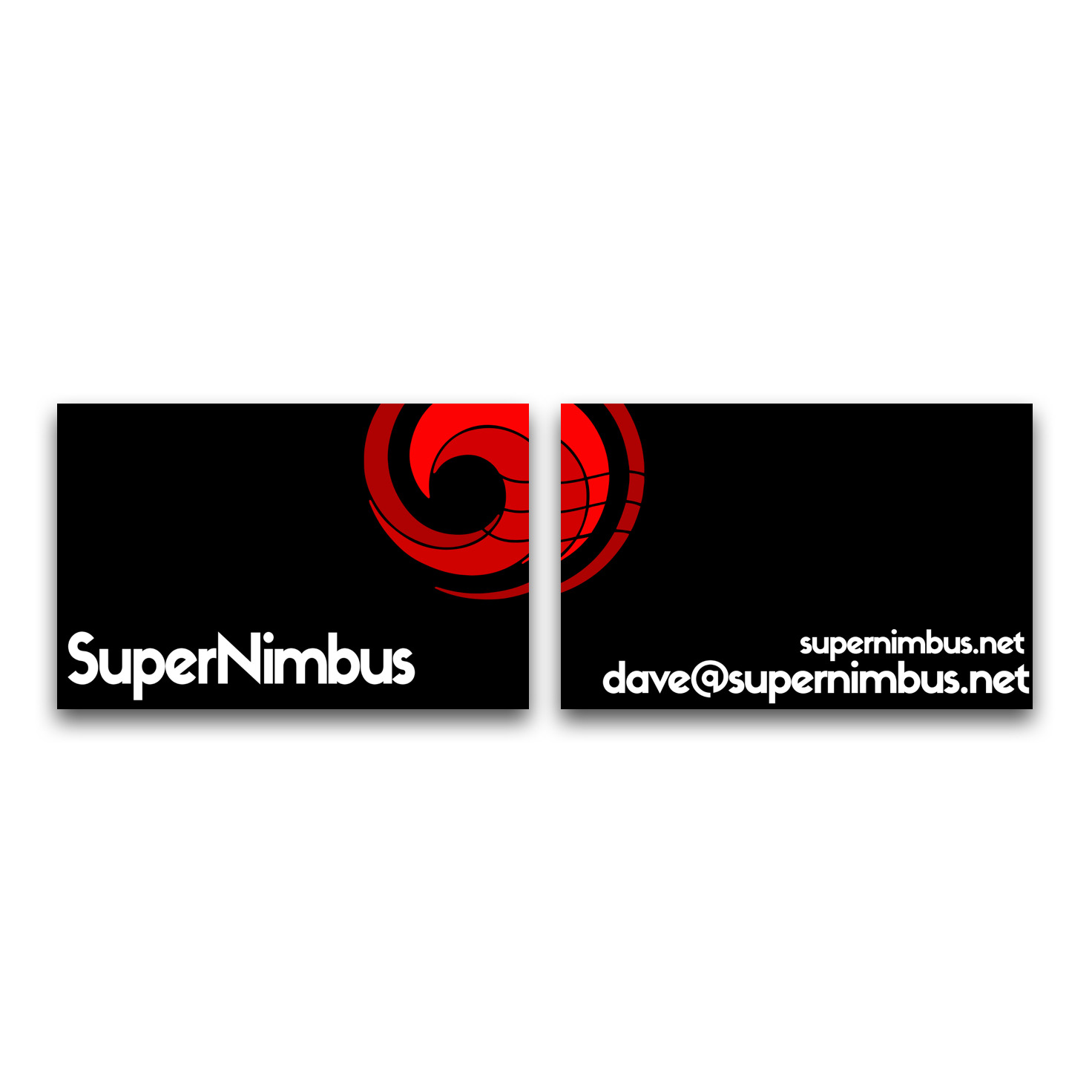 SuperNimbus Business card design mockup