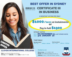 悉尼學校11月特惠--半年商務課程僅$1900&語言班僅$180/週