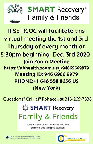 SMART Recovery Family and Friends flyer