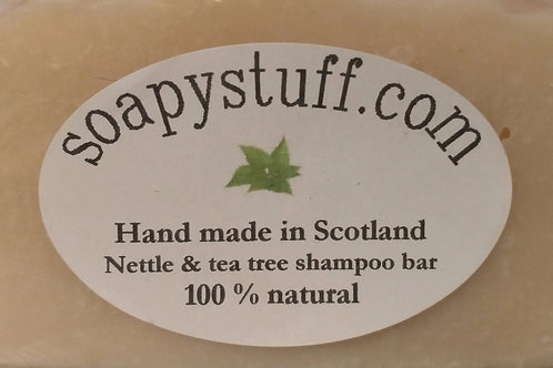 nettle and tea tree shampoo bar