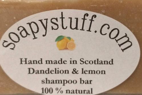 Dandelion and Lemon shampoo bar