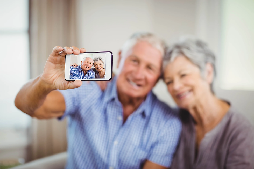 bigstock-Senior-couple-taking-a-selfie--