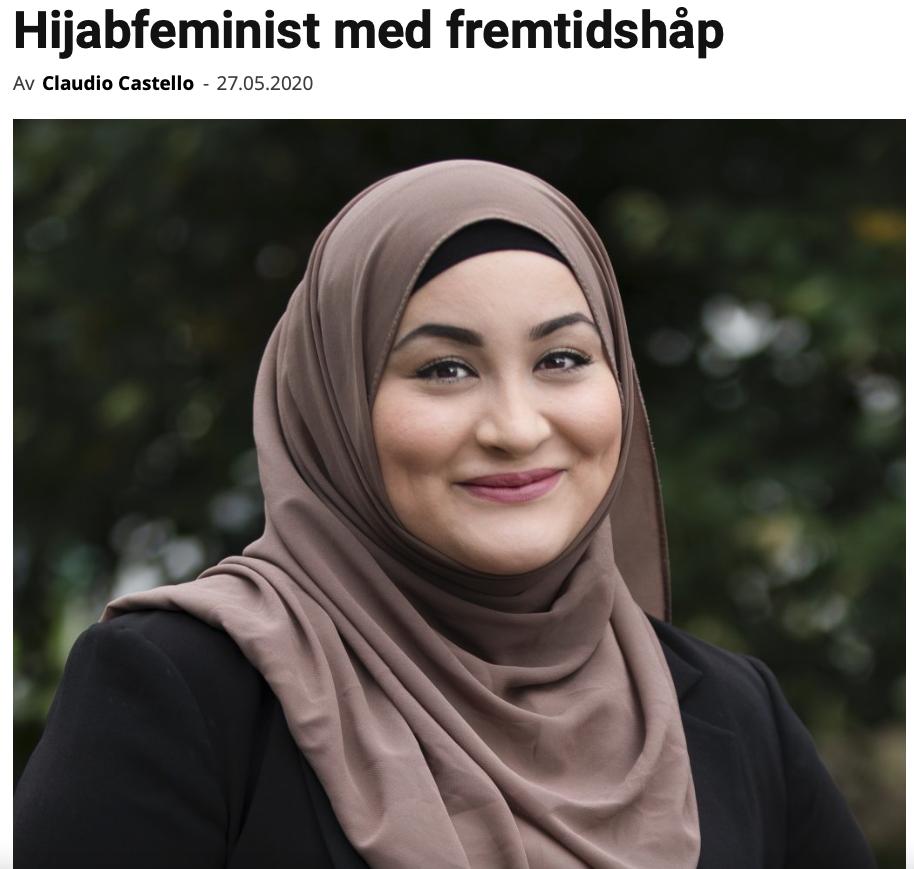 Hijabfeminist med fremtidshåp