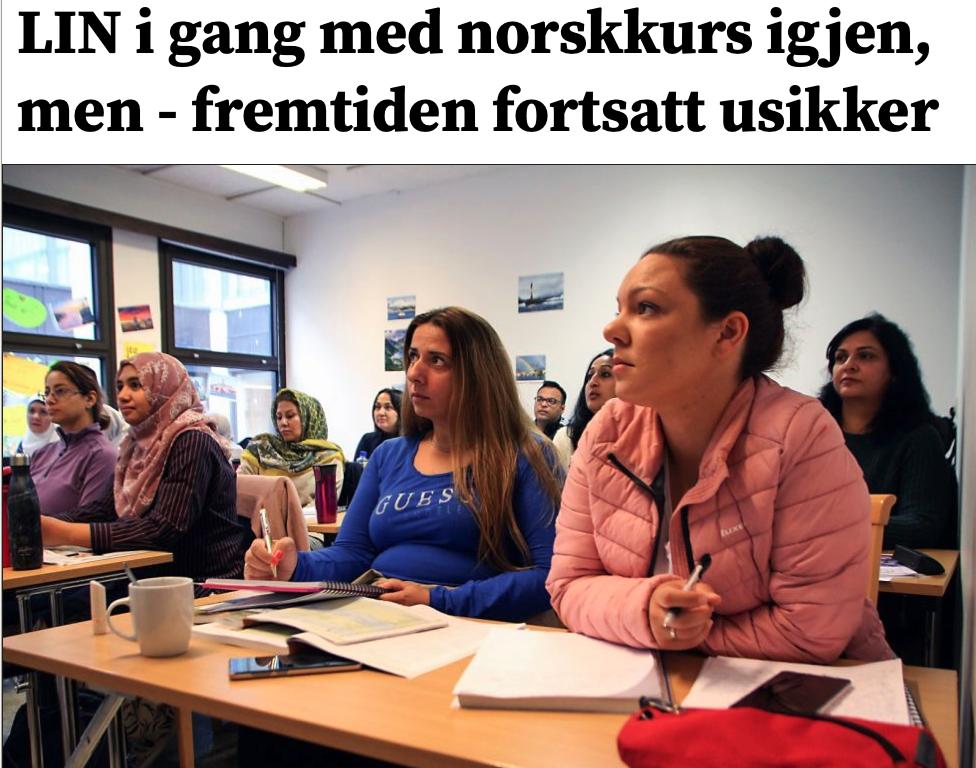 LIN i gang med norskkurs igjen, men - fremtiden fortsatt usikker