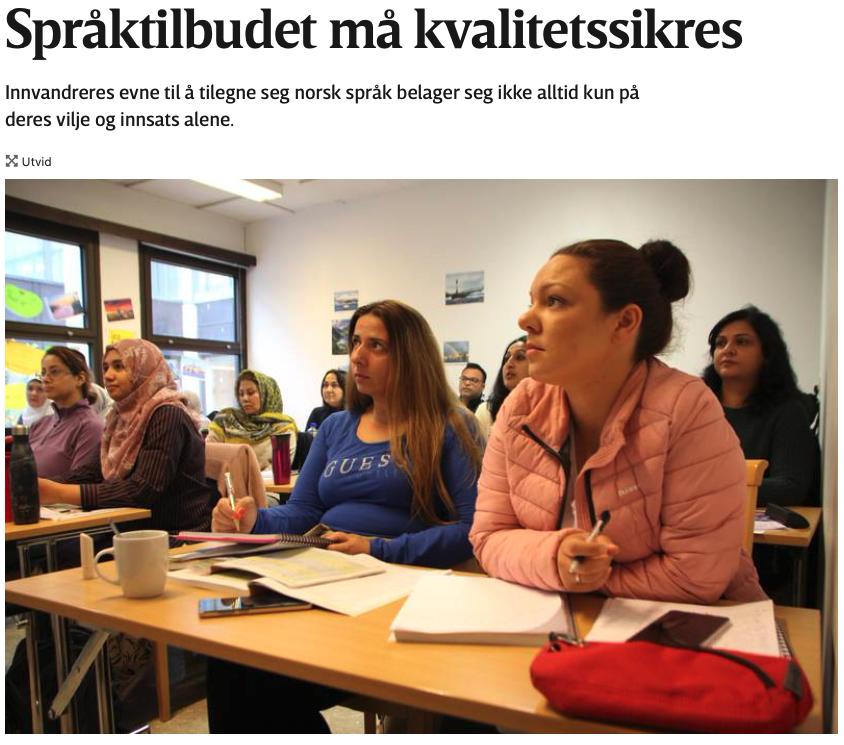 Språktilbudet må kvalitetssikres