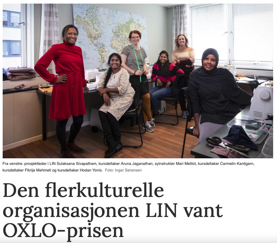 Den flerkulturelle organisasjonen LIN vant OXLO-prisen